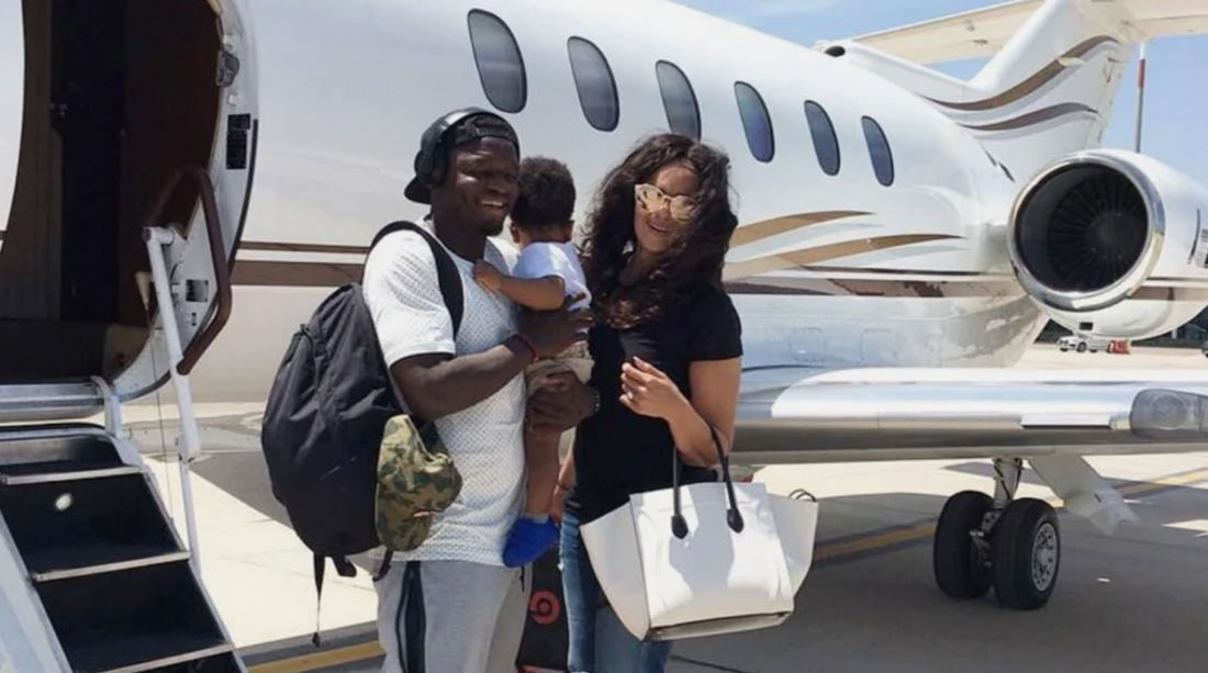 SULLEY MUNTARI GRAB A PRIVATE JET
